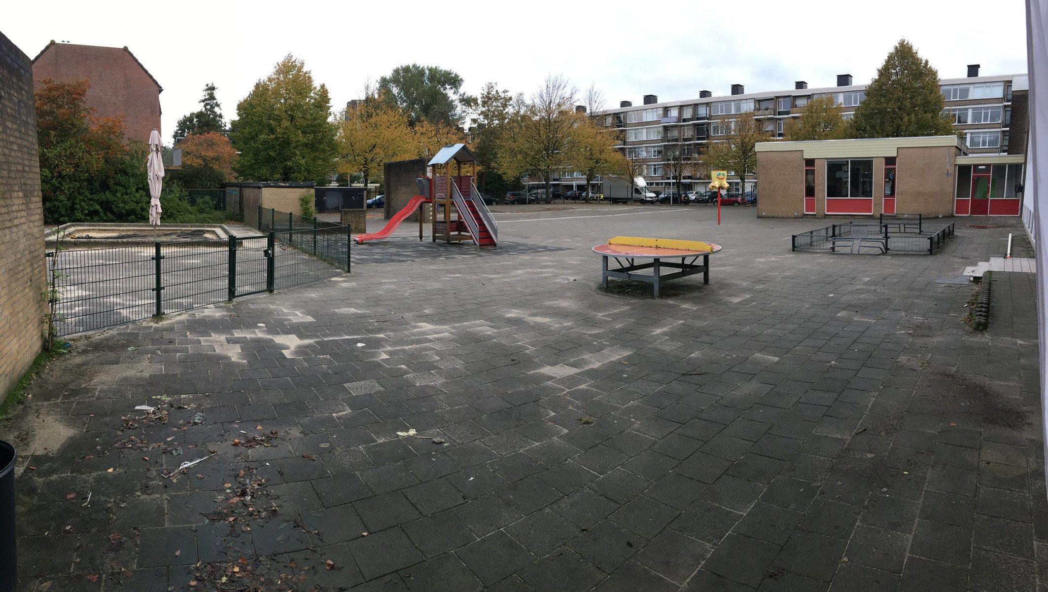 Het schoolplein - de astronaut